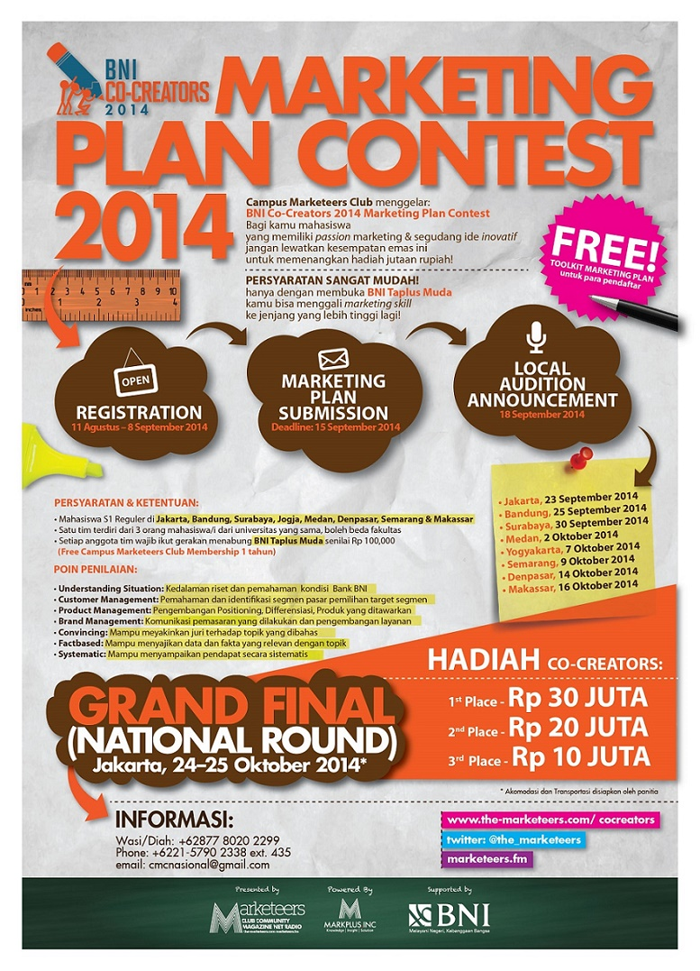 Marketeers Marketing Plan Contest 2014